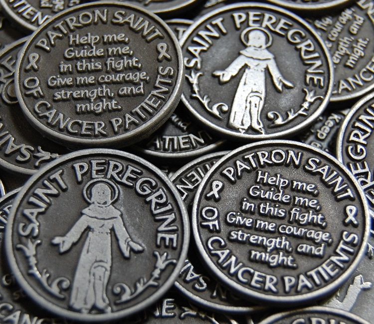 Saint Peregrine Pocket Token - Patron Saint of Cancer Patients