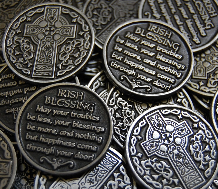Celtic Cross Irish Blessing Pocket Token