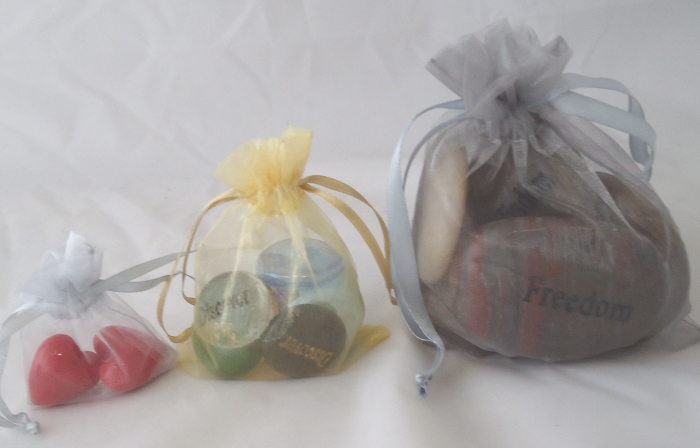 Organza Pocket Token and Word Stone Gift Bags
