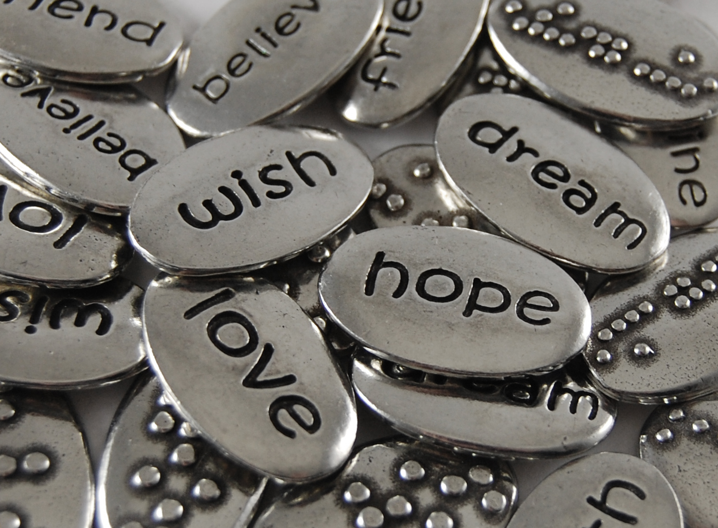 **Braille Word Pebble Assortment**